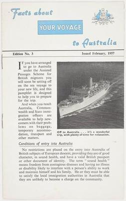 Booklet - Facts About Your Voyage to Australia, 1957 - Museum Victoria | Faction | Scoop.it