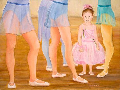 "16"" x 12"" Print of Primary Ballerina   Worth A Look   Scoop.it"
