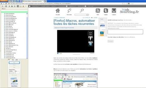 [Firefox] iMacros, automatiser toutes les tâches récurrentes   Technologies informatique   Scoop.it