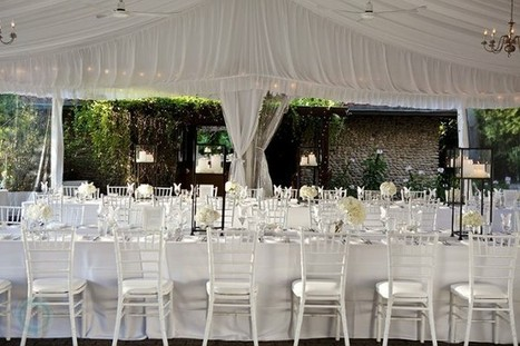 Outdoor Glam | Fabulous Weddings | Scoop.it
