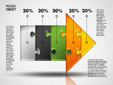 Arrow Puzzle   Diagrams and Charts for Presentations   Scoop.it