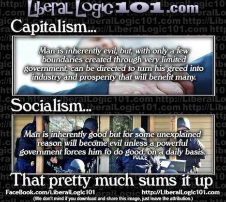 Capitalism vs. Socialism Brilliantly Compared In One PERFECT Meme | Digital Culture | Scoop.it