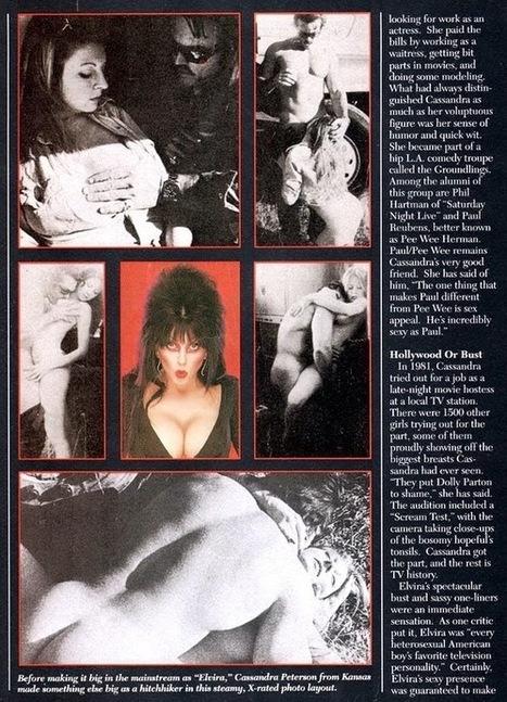Zombie Logic: Poetry, Politics, Webcomics, Movies, Sports, Art, and Zombies: Elvira, Mistress of The Dark Giving a BJ | Elvira, Mistress of the Dark | Scoop.it
