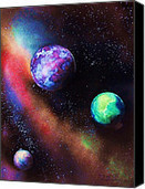 Space Painting Painting by Chad LaBombarde - Space Painting Fine Art Prints and Posters for Sale | Space painting | Scoop.it