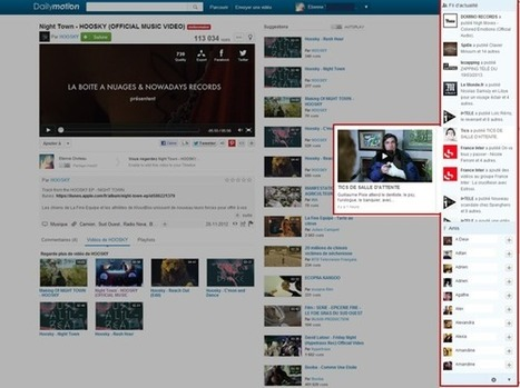 Dailymotion devient plus social avec l'Activity Feed | Geek or not ? | Scoop.it