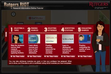 Rutgers RIOT: Beginner's Guide to Research | technologies | Scoop.it