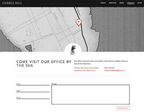 Web Design Ledger Examples of Well Designed Contact Pages | Inspiration | Web Design | Scoop.it