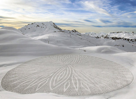 Artist Uses Compass, String and Measuring Tape to Create Amazing Snowshoe #Art. #snow #landart | Luby Art | Scoop.it