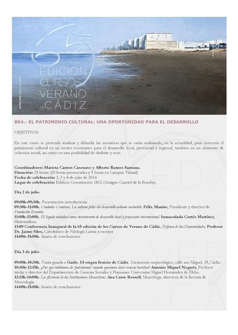 Trasteos hipertextuales: El Patrimonio cultural: una oportunidad para el desarrollo 2-4 de julio   Publicaciones de Marieta Cantos Casenave   Scoop.it