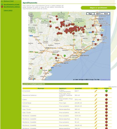 Mapa d'aprofitaments: Publicar, difondre i incentivar al màxim la comercialització de la fusta | TIG | Scoop.it