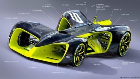Roborace reveals what's under the skin of its enigmatic self-driving race car | New Atlas | Cultibotics | Scoop.it