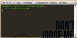 Eigene Tweets mit node.js abrufen und mittels Websockets an den Client senden | JavaScript in Unternehmensanwendungen | Scoop.it