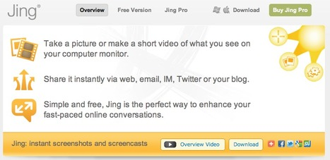 TechSmith | Jing, instant screenshots and screencasts, home | Edu 2.0 | Scoop.it