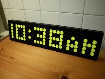 Flip Dot Clock | Open Source Hardware News | Scoop.it