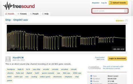 Freesound, banco de sonidos de dominio público o con licencia Creative Commons | MAZAMORRA en morada | Scoop.it
