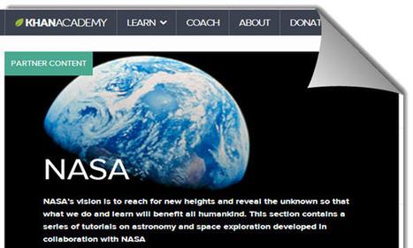 La NASA y Khan Academy lanzan tutoriales online sobre astronomía y exploración espacial   Mundo   Scoop.it