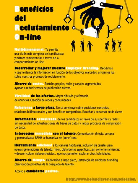 Beneficios del reclutamiento online #infografia #infographic #rrhh | Tips & Tools | Scoop.it