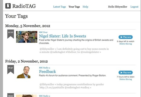 BBC R&D : Radiotagbot - Bookmarking Radio and TV using Twitter | Radio 2.0 (En & Fr) | Scoop.it