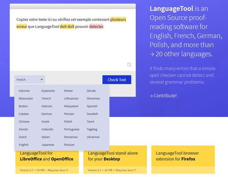 LanguageTool, un correcteur grammatical libre plurilingue | Le Top des Applications Web et Logiciels Gratuits | Scoop.it