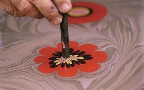 Turkish paper marbling art on UNESCO cultural list - Hurriyet Daily News | Paper Art | Scoop.it