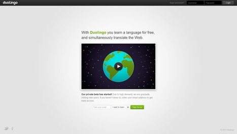 Duolingo : you learn a language for free, and simultaneously translate the Web. | Time to Learn | Scoop.it