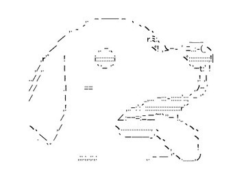 An Audience With O-Kami-Sama-sama (お神様様): ascii art | ASCII Art | Scoop.it