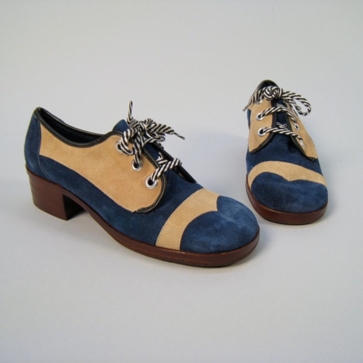 Baby, don't step on my vintage deadstock blue suede oxford shoes | Kitsch | Scoop.it