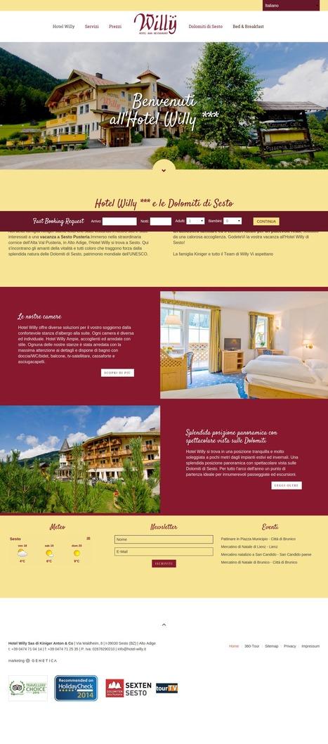 Hotel Willy *** in the Dolomites of Sexten - Hotel Willy Dolomiten | geneticamultimedia | Scoop.it