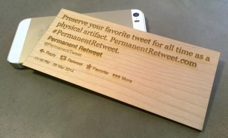 Votre Tweet en bois ou en métal   Univers du web   Scoop.it