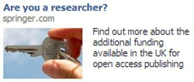 "Facebook advertising Open Access ""Are you a researcher?"" 