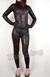 Black Pattern Shiny Metallic Catsuit Zentai [C20296] - $46.00 : Shop Zentai Suits Full Bodysuits And Catsuits From Zentaing.com | zentai catsuit lycra | Scoop.it