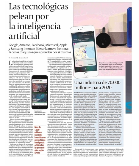 Inteligencia artificial y machine learning como nueva frontera | LabTIC - Tecnología y Educación | Scoop.it