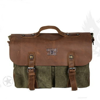 Men's retro messenger bags with leather flap from Vintage rugged canvas bags | personalized canvas messenger bags and backpack | Scoop.it