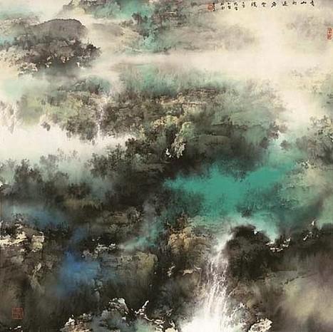 Aquarellistes chinois le paysage aquarelles for Aquarelliste chinois