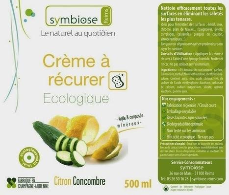 Blog et Actualités Bio: Nouveauté Symbiose // Crème à récurer ... | symbiose développement environnement | Scoop.it
