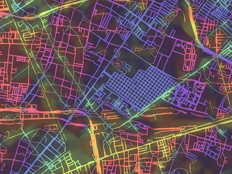 Complex City Grids Visualized With Day-Glo Maps | Random Ephemera | Scoop.it