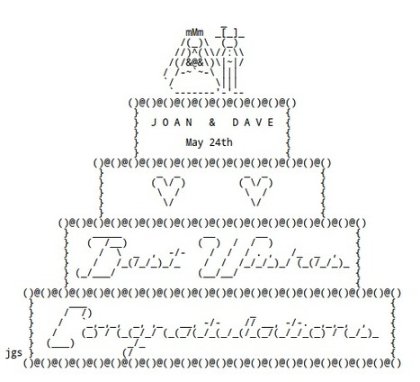 WEDDING ASCII Art by Joan Stark | ASCII Art | Scoop.it