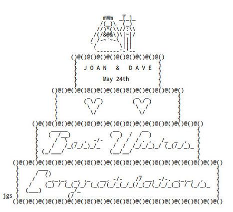 WEDDING ASCII Art by Joan Stark | ASCII Art | Scoop.it
