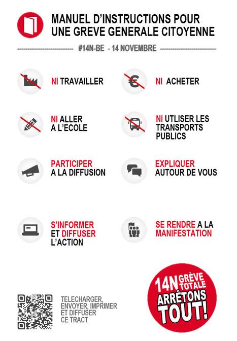 #14N-BE.BXL ● Grève Générale BELGIQUE 14.11.12 - PROPAGEZ L'APPEL DES CITOYENS | Facebook | #Road to Dignity | Scoop.it