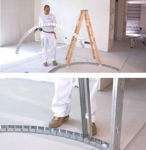 Rail flexible pour cloisons et plafonds courbes   Les innovations de produits et services   Scoop.it
