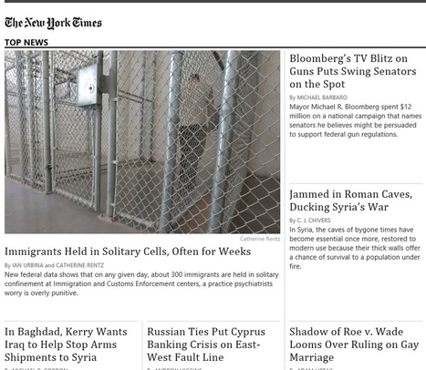 NY Times Windows 8 app the pleasure of great journalism | Movin' Ahead | Scoop.it