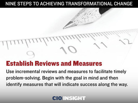 Nine Steps to Achieving Transformational Change | Organizational Change Management | Scoop.it