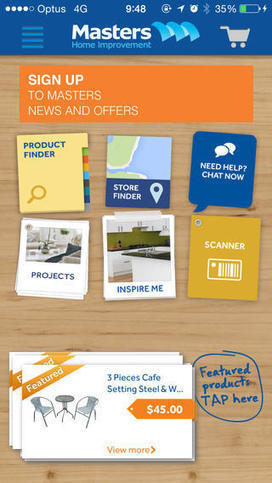 Take a Look at Masters' New Tablet-first Responsive Website - Power Retail | Web | Scoop.it