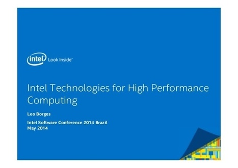 Intel Technologies for High Performance Computing | High Performance Computing | Scoop.it