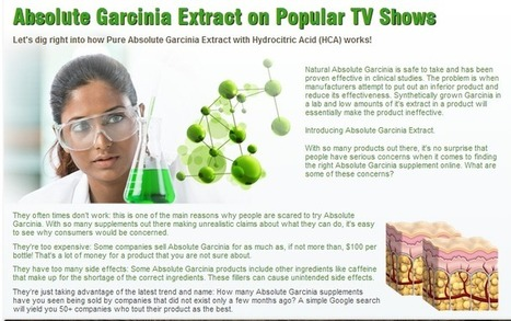 Interested in Absolute Garcinia Cambogia? Must Read First Before Try it! | GRAET RESULT OF  Absolute Garcinia Cambogia | Scoop.it
