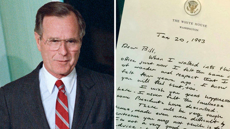 The letter George Bush wrote to Bill Clinton is a lesson in grace | Current Events, Political & This & That | Scoop.it