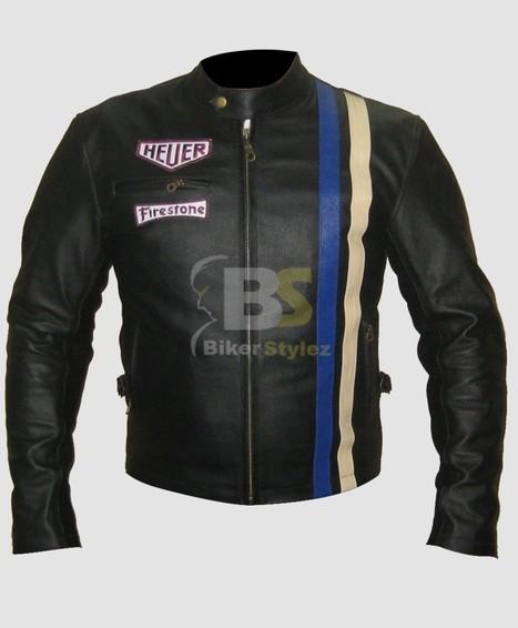 Ebon Steve McQueen Motorcycle Jacket a vintage fabric to wear   Steve Mcqueen Jackets   Scoop.it