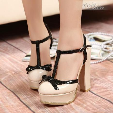 Fashion 2013 Apricot Platform Closed-toe Chunky Heels Women's Shoes   women fashion&clothing   Scoop.it