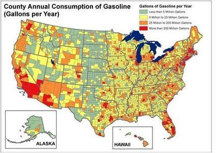 Map of the Day: Where Americans Use the Most Oil | Sustainable ⊜ Smart Path | Scoop.it