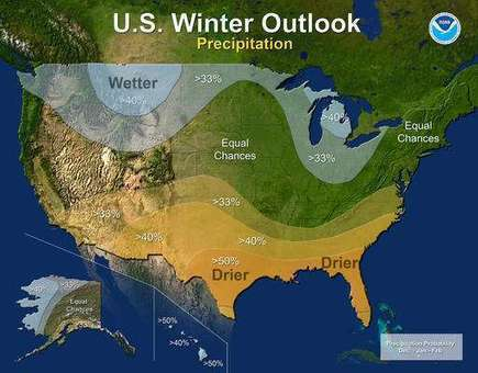 Winter outlook: Warm south; cooler north; murky in middle | Sustain Our Earth | Scoop.it
